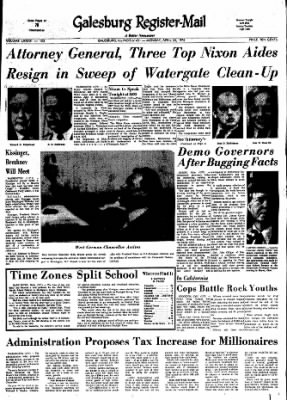 Galesburg Register-Mail from Galesburg, Illinois on April 30, 1973 · Page 1