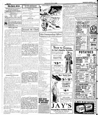 Naugatuck Daily News from Naugatuck, Connecticut on August 31, 1944 · Page 4