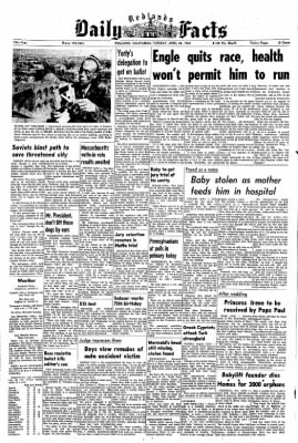 Redlands Daily Facts from Redlands, California on April 28, 1964 · Page 1