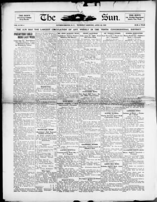 The Sun from Rutherfordton, North Carolina on April 22, 1920 · Page 1