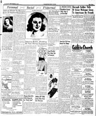 Naugatuck Daily News from Naugatuck, Connecticut on September 2, 1944 · Page 3