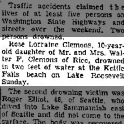 - Rose Lorraine Clemons, lO-year-l old daughter...