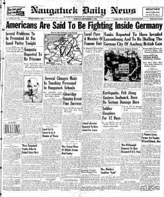 Naugatuck Daily News from Naugatuck, Connecticut on September 5, 1944 · Page 1