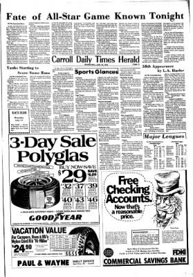Carrol Daily Times Herald from Carroll, Iowa on July 10, 1974 · Page 11