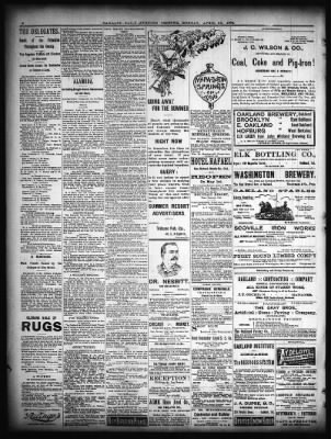 Oakland Tribune from Oakland, California on April 25, 1892 · Page 6