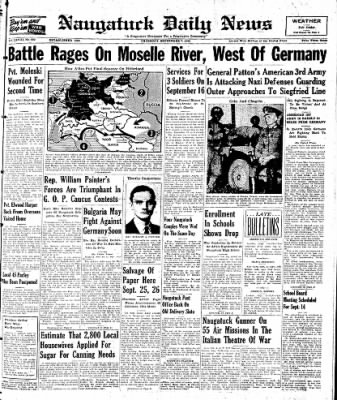 Naugatuck Daily News from Naugatuck, Connecticut on September 7, 1944 · Page 1