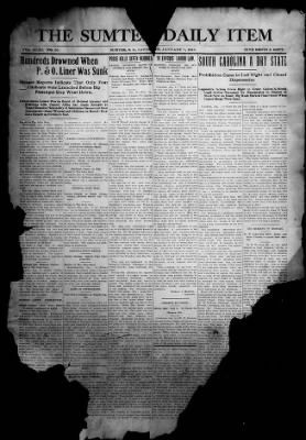The Item from Sumter, South Carolina on January 1, 1916 · 1