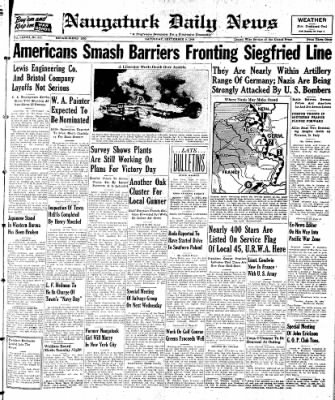 Naugatuck Daily News from Naugatuck, Connecticut on September 9, 1944 · Page 1