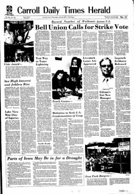 Carrol Daily Times Herald from Carroll, Iowa on July 18, 1974 · Page 1