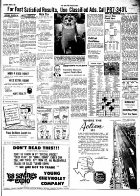 Hope Star from Hope, Arkansas on May 22, 1968 · Page 9