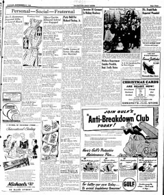 Naugatuck Daily News from Naugatuck, Connecticut on September 12, 1944 · Page 3