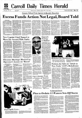 Carrol Daily Times Herald from Carroll, Iowa on July 23, 1974 · Page 1