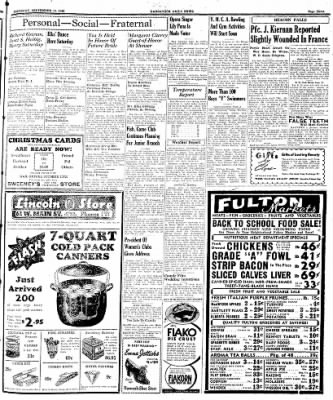 Naugatuck Daily News from Naugatuck, Connecticut on September 14, 1944 · Page 3