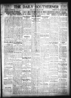 The Daily Southerner from Tarboro, North Carolina on April 8, 1920 · Page 1