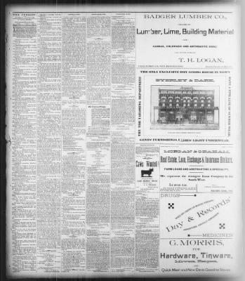 Medicine Lodge Cresset from Medicine Lodge, Kansas on August 2, 1888 · Page 3