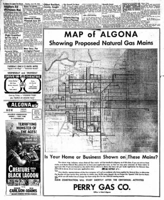 The Algona Upper Des Moines from Algona, Iowa on June 22, 1954 · Page 6