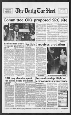The Daily Tar Heel from Chapel Hill, North Carolina on October 17, 1989 · Page 1