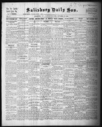 Sample Salisbury Evening Sun front page