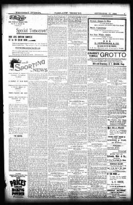 Oakland Tribune from Oakland, California on September 18, 1895 · Page 5
