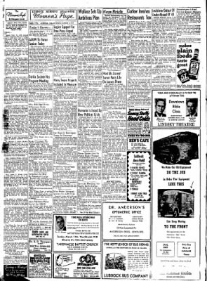 Lubbock Morning Avalanche from Lubbock, Texas on March 3, 1945 · Page 1