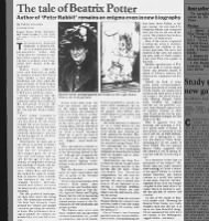 Review of Beatrix Potter biography includes summary of Potter's life and author career