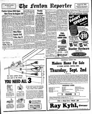The Algona Upper Des Moines from Algona, Iowa on August 24, 1954 · Page 13