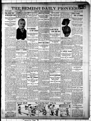 The Pioneer from Bemidji, Minnesota on November 11, 1913 · Page 1