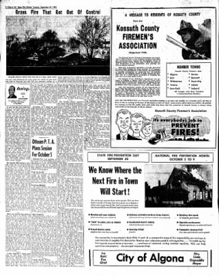 The Algona Upper Des Moines from Algona, Iowa on September 28, 1954 · Page 18