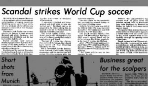Doping scandal during the 1974 World Cup