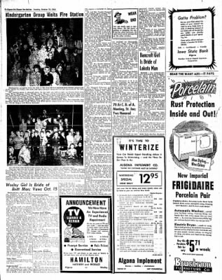The Algona Upper Des Moines from Algona, Iowa on October 19, 1954 · Page 14