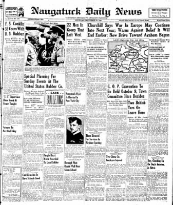 Naugatuck Daily News from Naugatuck, Connecticut on September 28, 1944 · Page 1