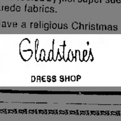 Gladstone's - DRESS SHOP