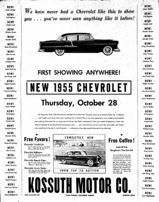 The Algona Upper Des Moines from Algona, Iowa on October 26, 1954 · Page 28