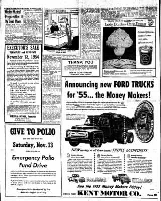 The Algona Upper Des Moines from Algona, Iowa on November 9, 1954 · Page 8