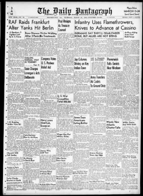 The Pantagraph from Bloomington, Illinois on March 23, 1944 · Page 1