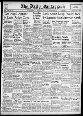 The Pantagraph from Bloomington, Illinois on May 14, 1942 · Page 1