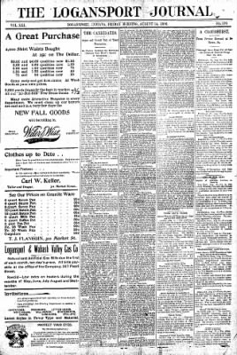Logansport Pharos-Tribune from Logansport, Indiana on August 14, 1896 · Page 1