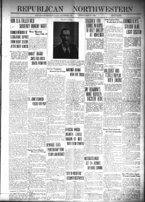 Republican-Northwestern from Belvidere, Illinois on March 7, 1924 · Page 1