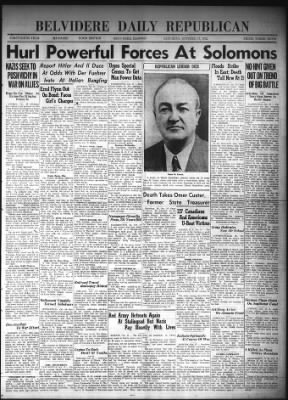 Belvidere Daily Republican from Belvidere, Illinois on October 17, 1942 · Page 1