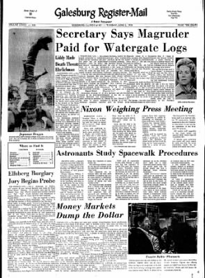 Galesburg Register-Mail from Galesburg, Illinois on June 5, 1973 · Page 1