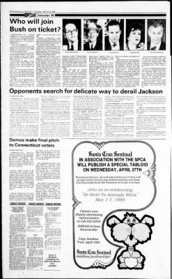 Santa Cruz Sentinel from Santa Cruz, California on March 29, 1988 · Page 30