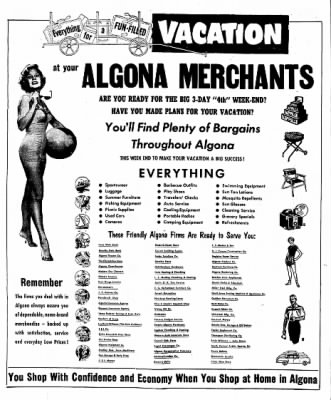 The Algona Upper Des Moines from Algona, Iowa on June 30, 1955 · Page 44