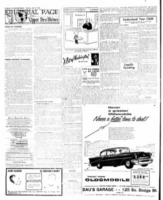 The Algona Upper Des Moines from Algona, Iowa on July 21, 1955 · Page 42