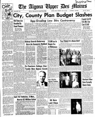 The Algona Upper Des Moines from Algona, Iowa on July 28, 1955 · Page 1