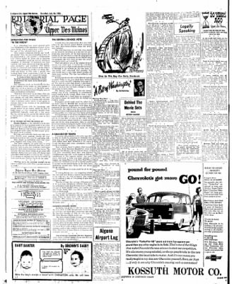 The Algona Upper Des Moines from Algona, Iowa on July 28, 1955 · Page 47