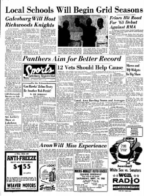Galesburg Register-Mail from Galesburg, Illinois on September 13, 1963 · Page 16