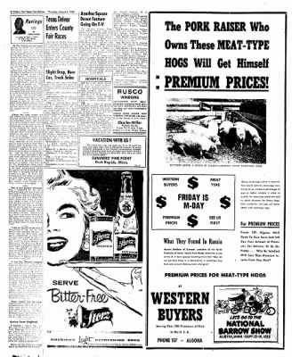 The Algona Upper Des Moines from Algona, Iowa on August 4, 1955 · Page 44