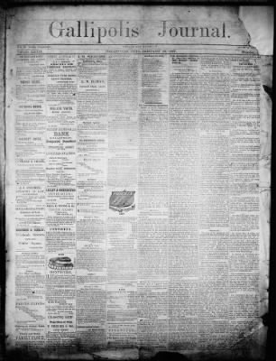 gallipolis journal from gallipolis ohio on january 24 1867 page 1
