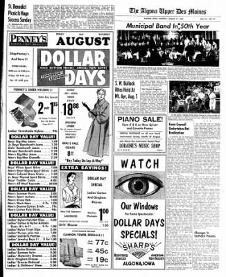 The Algona Upper Des Moines from Algona, Iowa on August 11, 1955 · Page 17