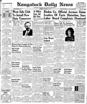Naugatuck Daily News from Naugatuck, Connecticut on January 17, 1947 · Page 1